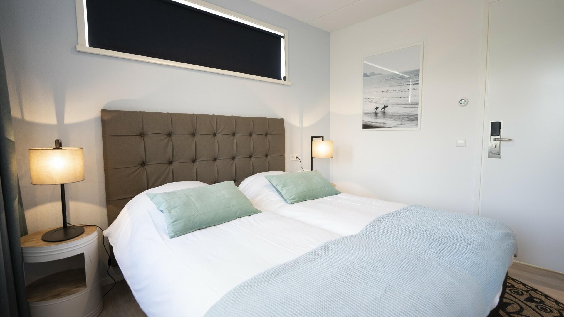 Bed and breakfast slaapkamer Tesselhof VVV Texel fotograaf Liselotte Schoo