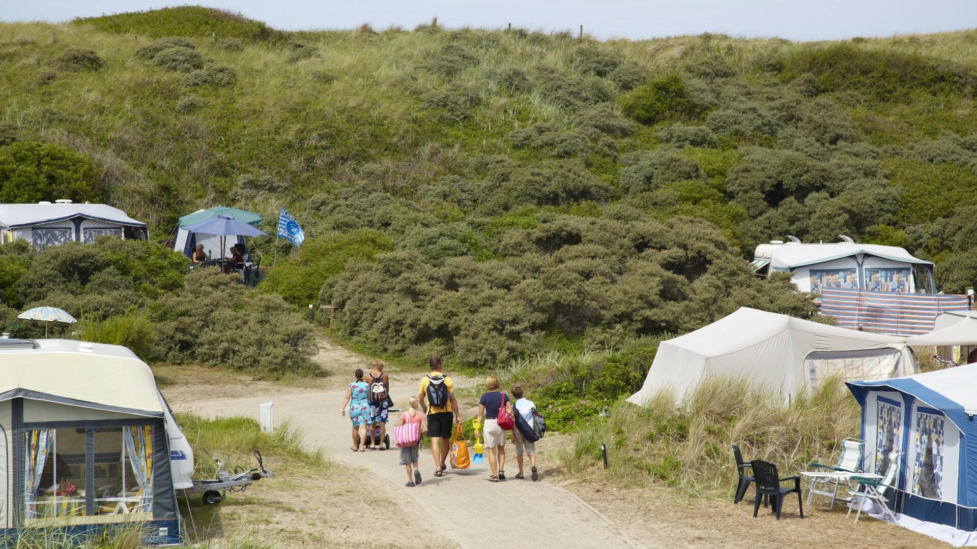 Camping Kogerstrand aan het strand van De Koog VVV Texel