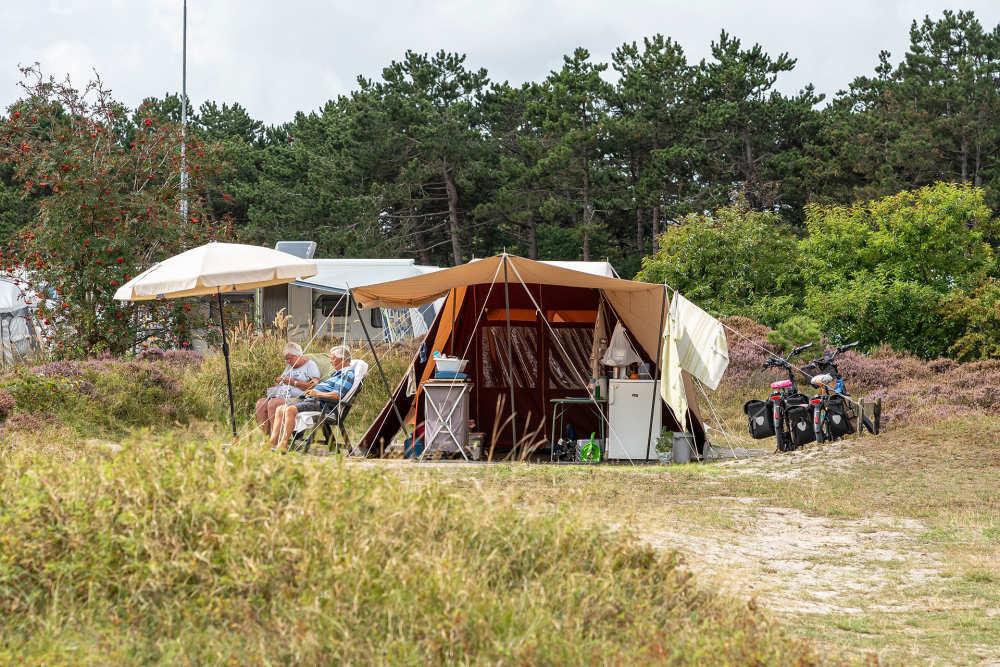 Campingplaats voor een eigen tent op Loodmansduin VVV Texel