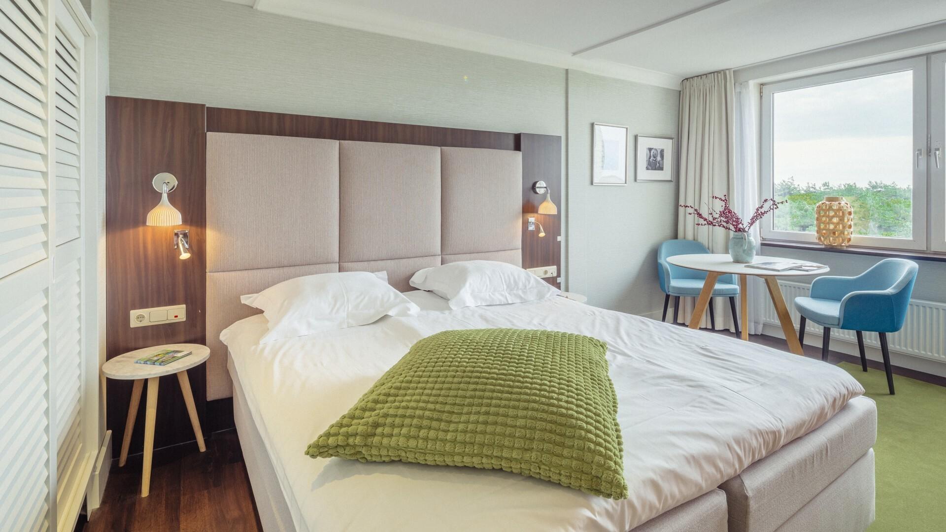 Tweepersoonskamer van Hotel Opduin VVV Texel