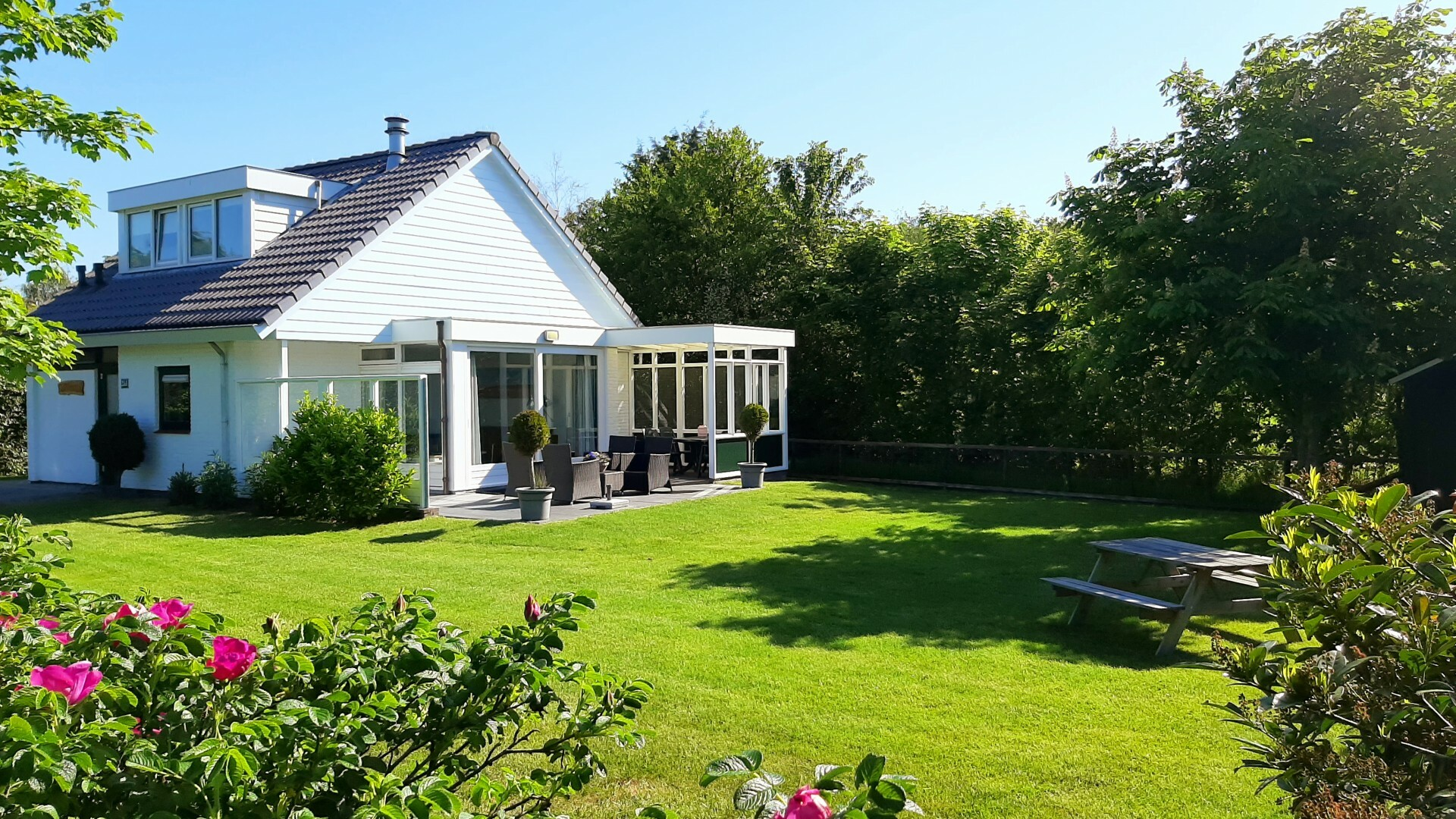 Bungalowpark De Parel tuin VVV Texel