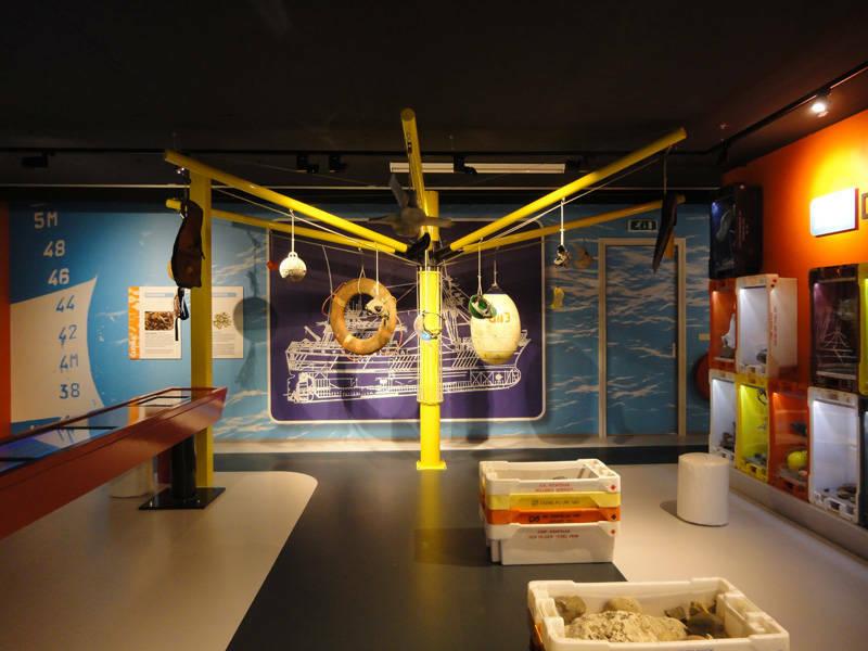 Expositieruimte internactieve expositie Leven van de vis De Oude Vismarkt VVV Texel