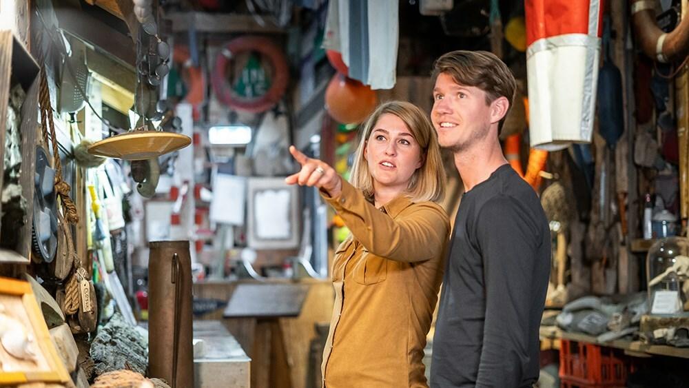 Juttersvondsten bij Museum Kaap Skil VVV Texel