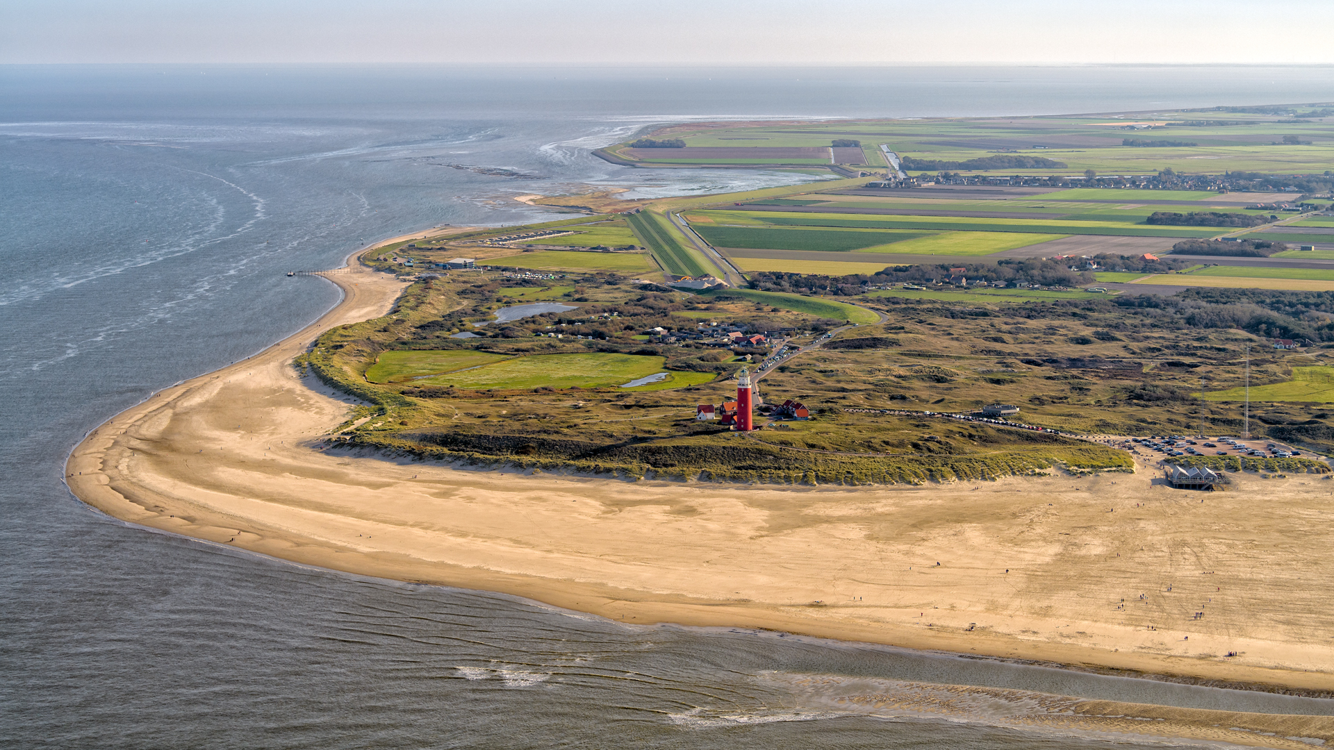 De Cocksdorp vanuit de lucht VVV Texel Roel Ovinge