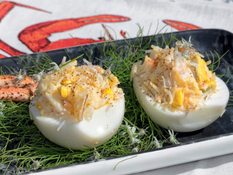 Gevulde eieren krabsalade VVV Texel Fotograaf Annette van Ruitenburg 2