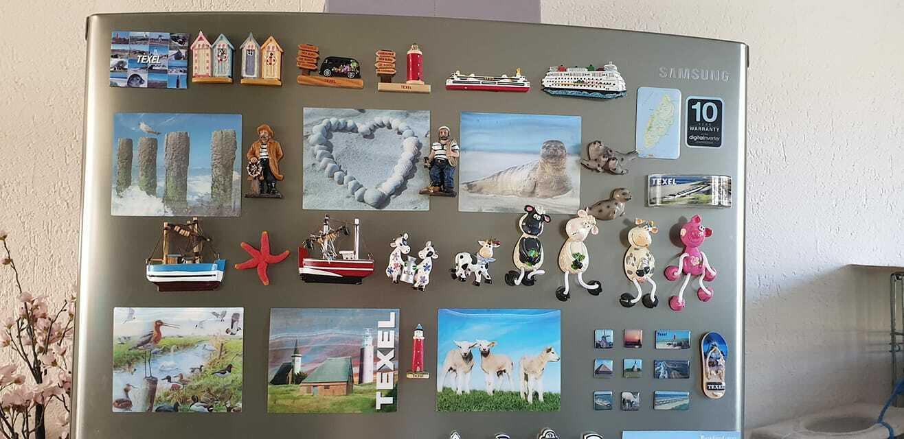 Magneten verzameling VVV Texel fotograaf Heidy Hoddes