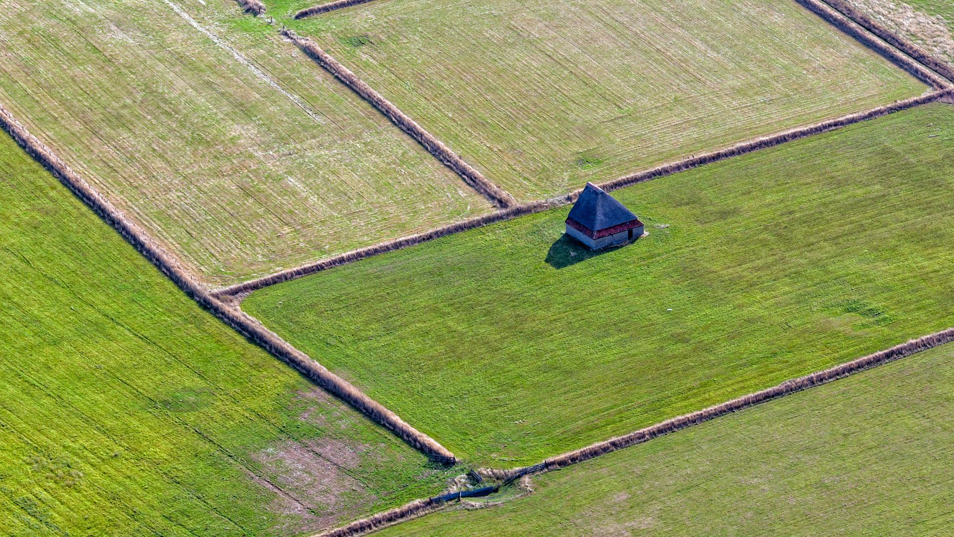 Schapenboet tussen de tuinwallen tuunwallen VVV Texel Roel Ovinge