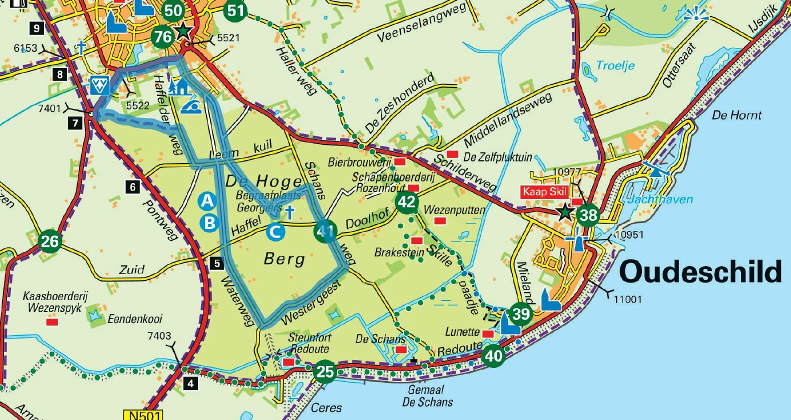 Wandelroute over de Hoge Berg VVV Texel
