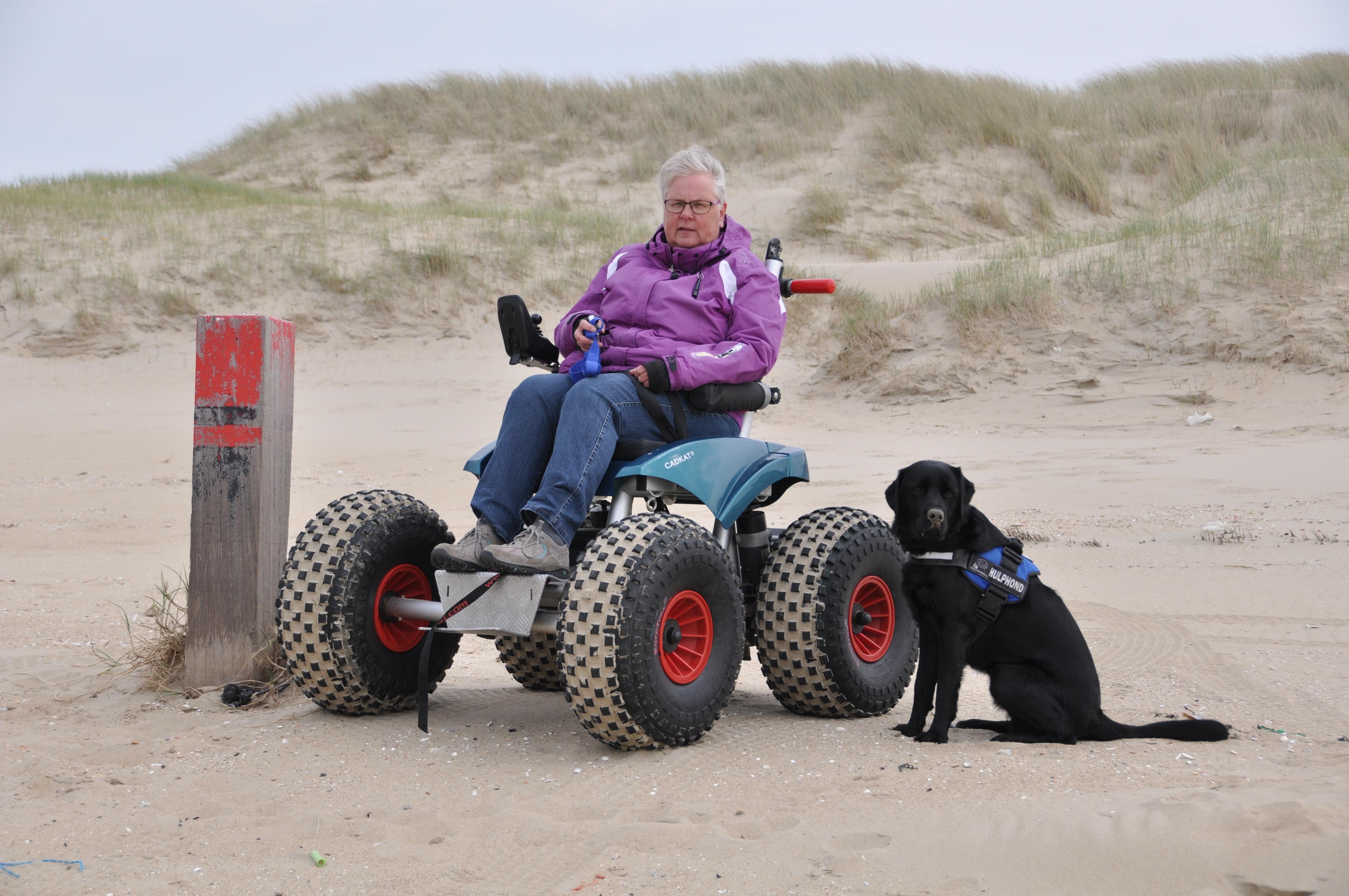 Met de Cadweazle op het strand VVV Texel fotograaf Ans van de Snepscheut