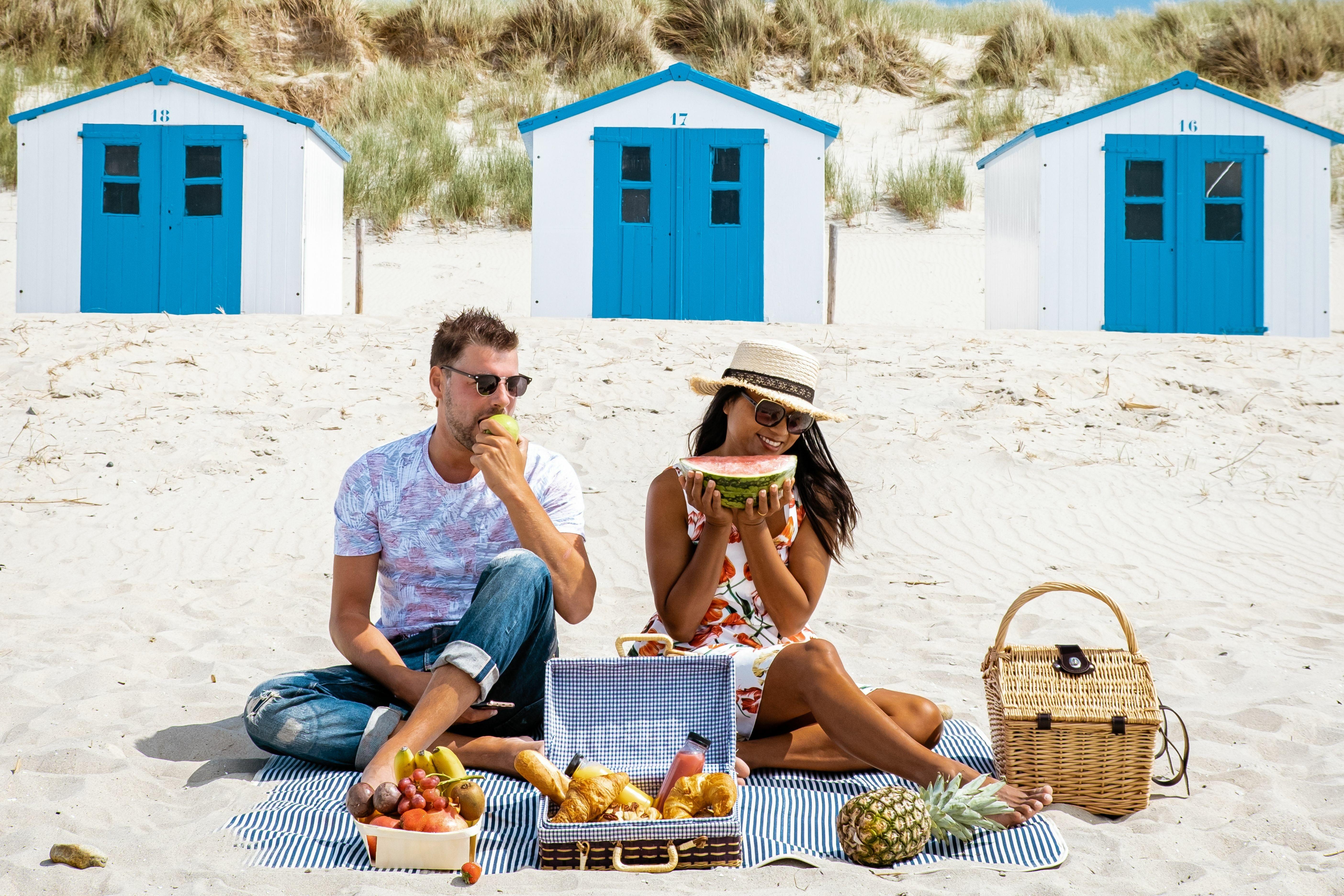 Picknicken op het strand bij De Koog VVV Texel