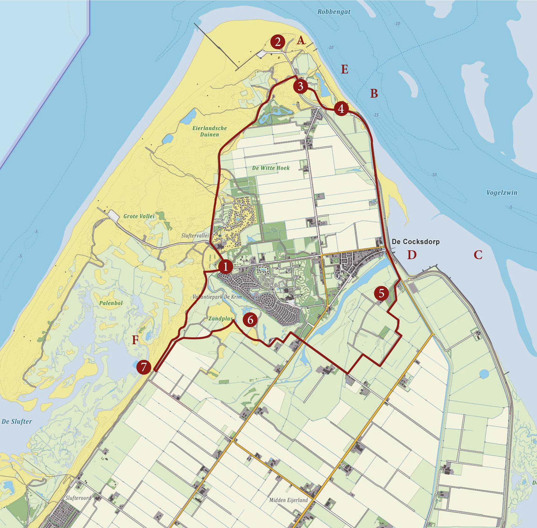 Wandelroute van de eerste wandelaar op Texel VVV Texel