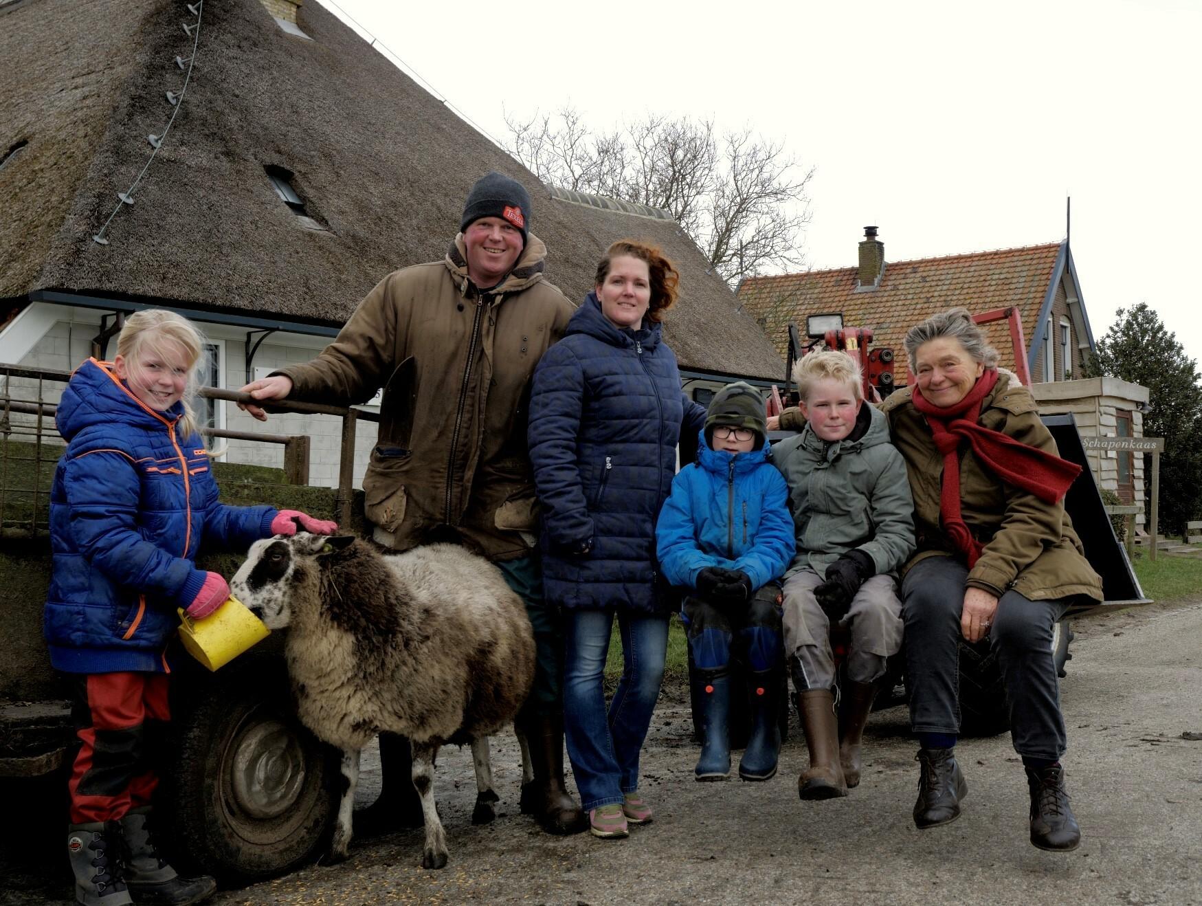 Familie Bakker van De Waddel