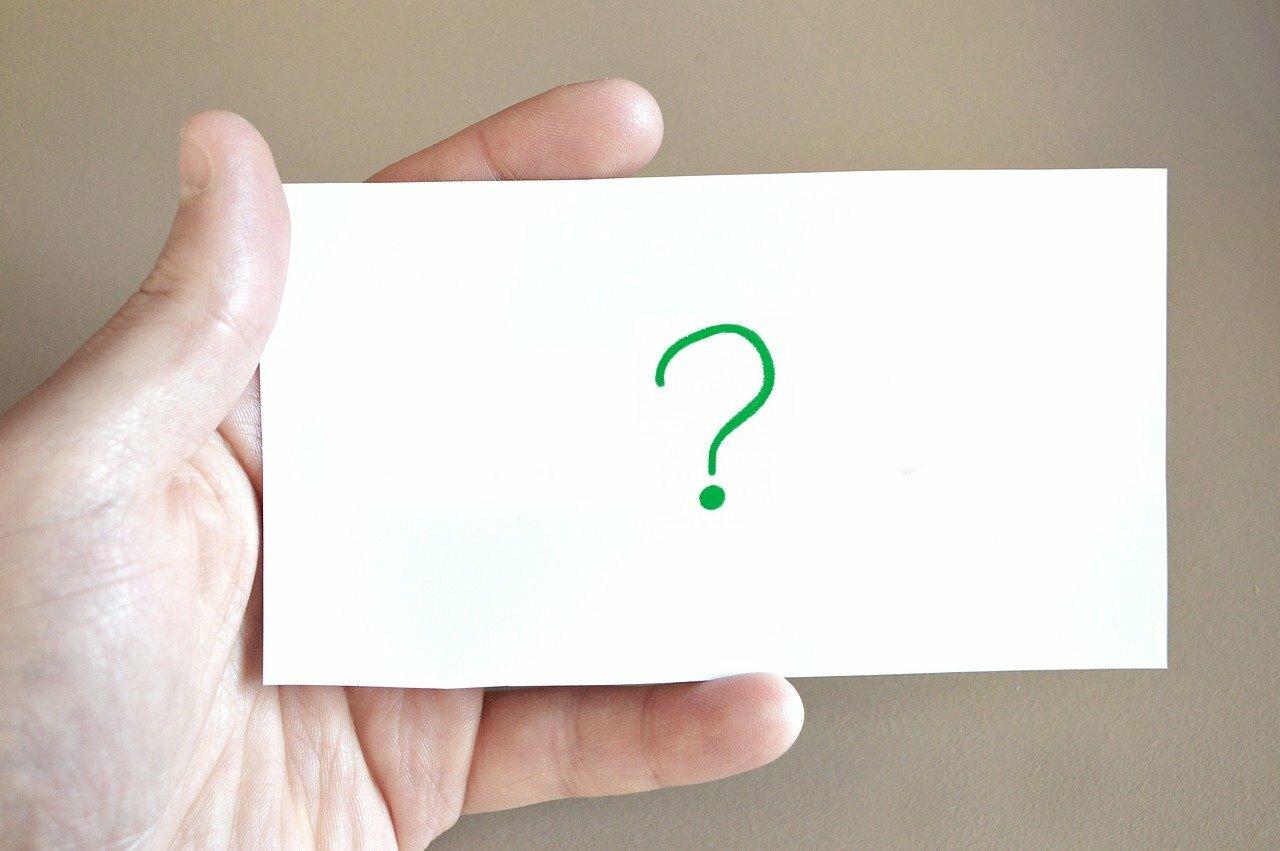 Vraagtekenkaartje veelgestelde vragen corona VVV Texel