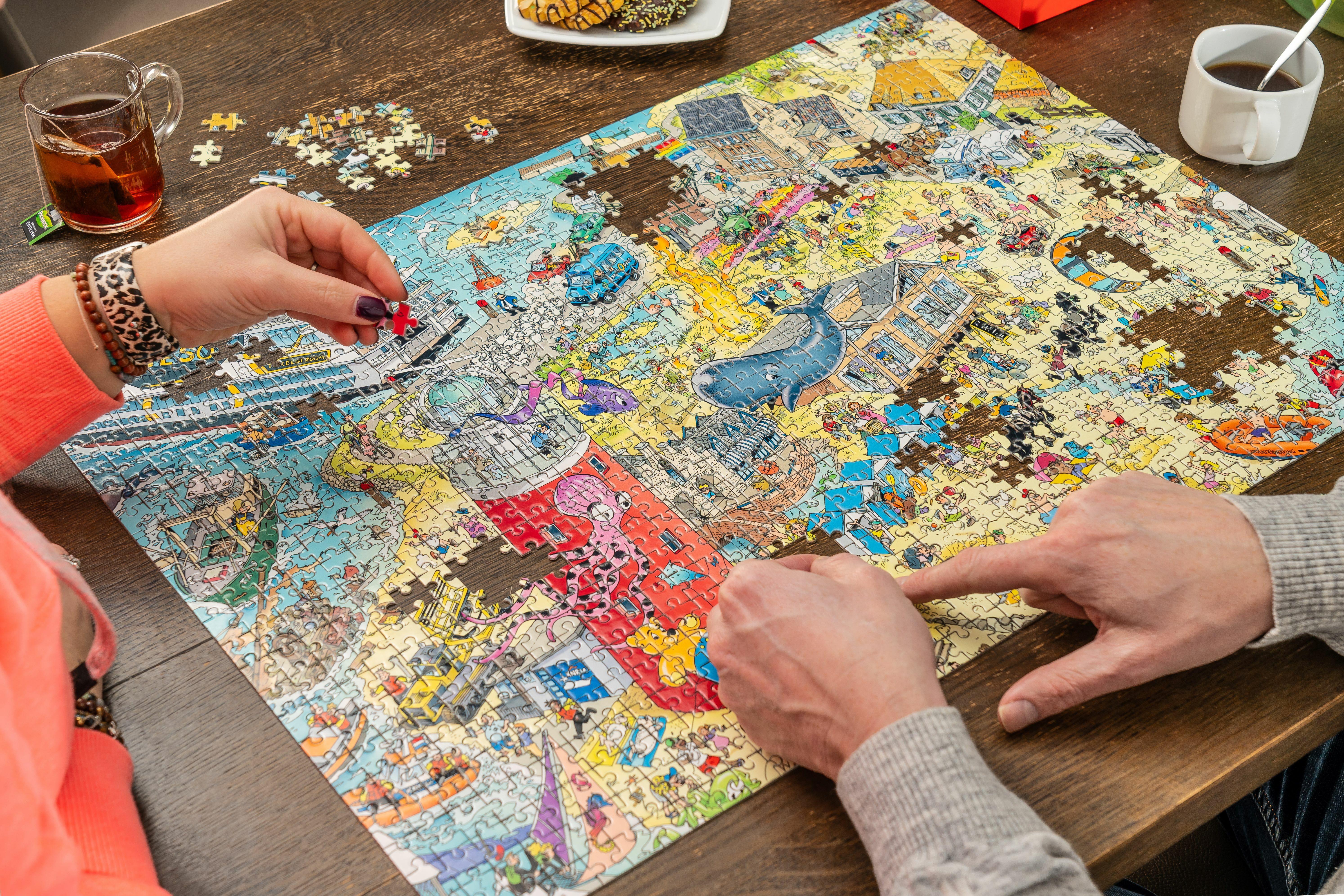 De Texel puzzel maken VVV Texel