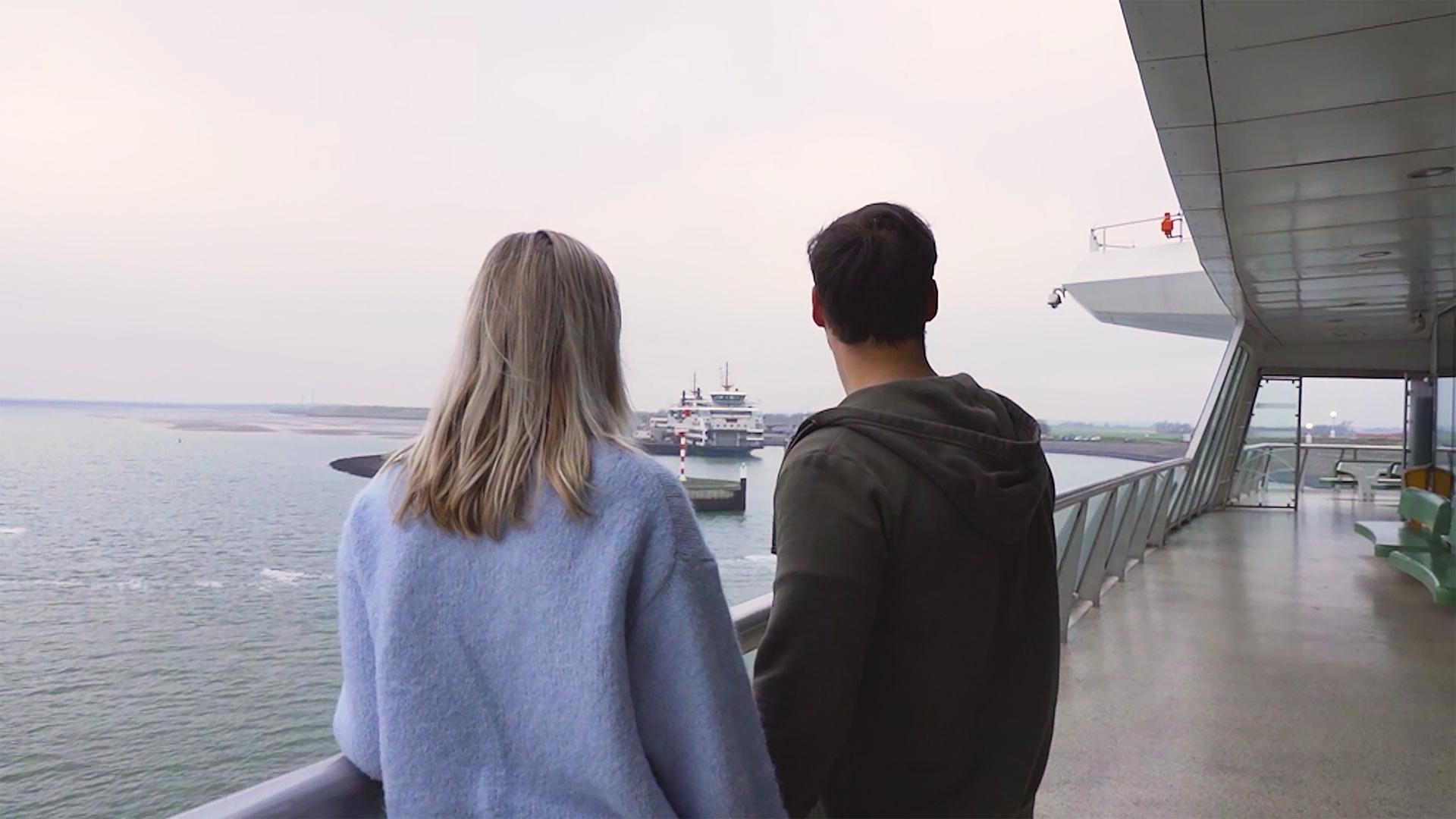 Stel op de boot VVV Texel