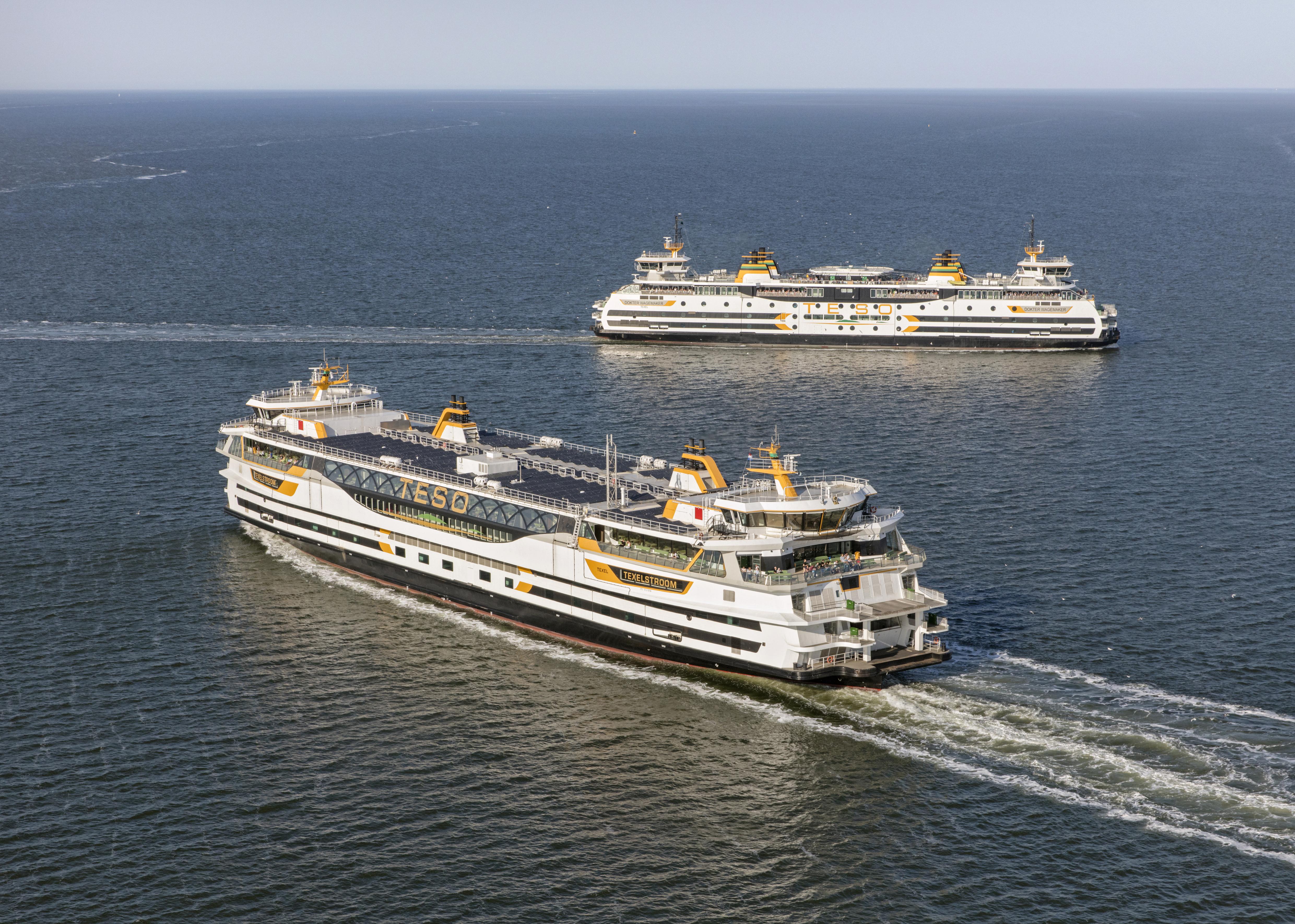 Veerdienst elk half uur dankzij de Texelstroom en Wagemaker VVV Texel