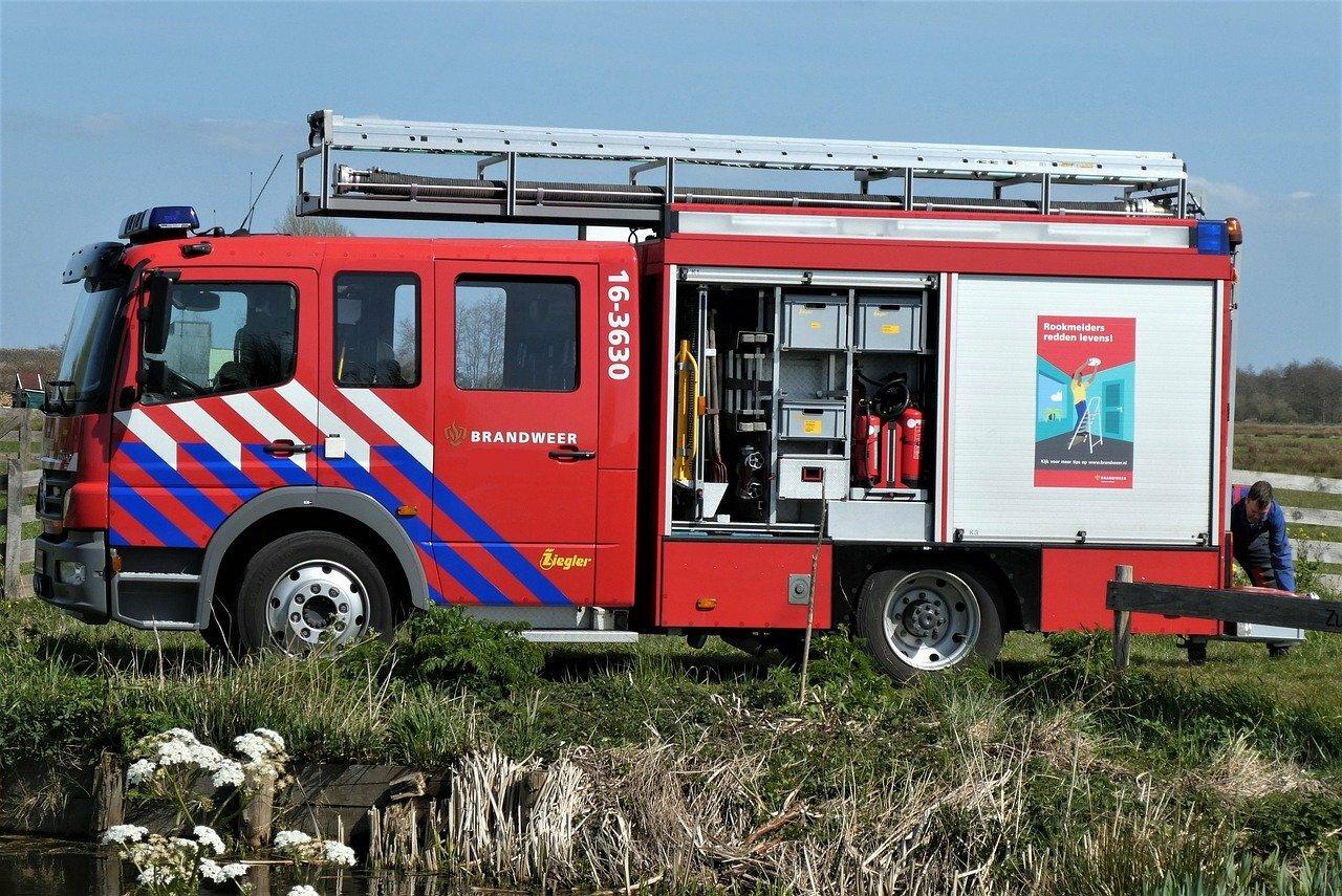 Brandweerauto bij nood VVV Texel