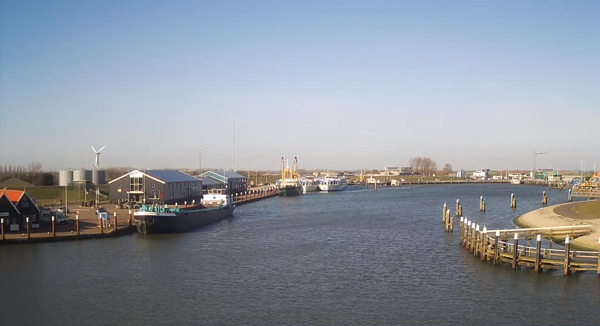 Livebeelden haven van Oudeschild VVV Texel
